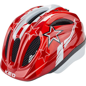 KED Meggy Helmet Kinder red stars